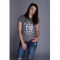 710 Women's White Print T-shirts